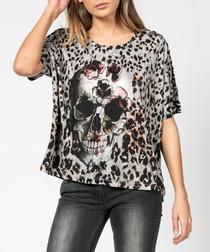 Pop tempt skeleton print T-shirt