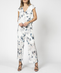 Glisten spiral print jumpsuit