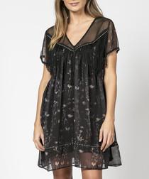 Luster prolific print mini dress