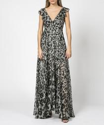 Radiance print maxi dress
