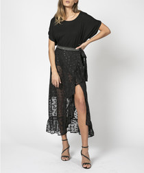 Radiance sheer polka dot maxi skirt