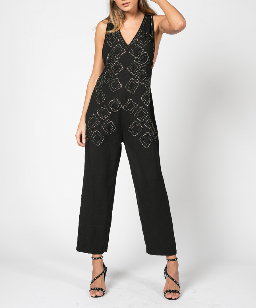 Enterprise jet black jumpsuit Sale - religion