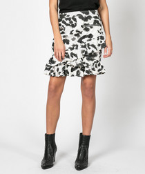 Reward monochrome wild print skirt