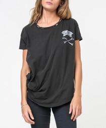 Cartilage jet black bone print T-shirt