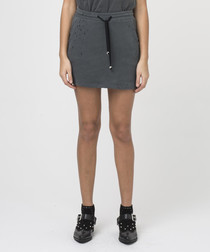 Runaway dark metal cotton mini skirt