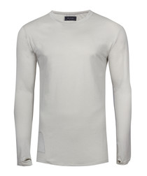 matteo quicksilver cotton thumbhole top