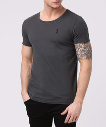 plain graphite pure cotton T-shirt