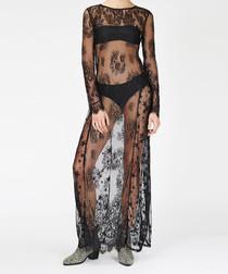 Twlight black sheer maxi dress