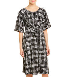 Inquest greyscale check dress