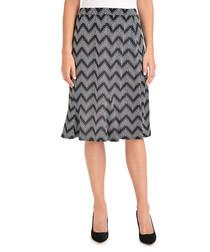 noir zing greyscale chevron skirt