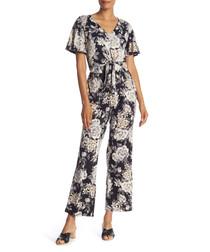 flowerbom greyscale jumpsuit