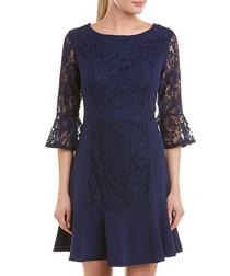 hautelace navy lace dress