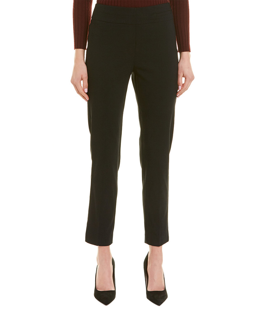 Black straight cropped trousers Sale - new york collective