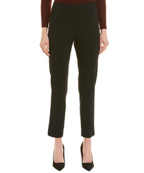 Black straight cropped trousers
