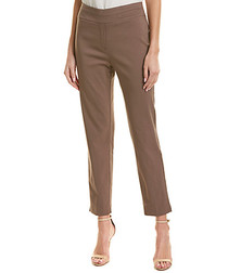 Taupe straight cropped trousers