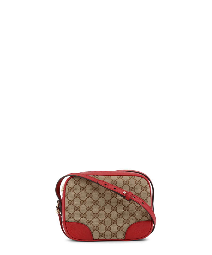 Beige canvas & red leather waist bag Sale - gucci