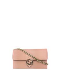 GG Dusty pink leather crossbody
