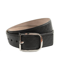 Microguccissima brown  leather belt