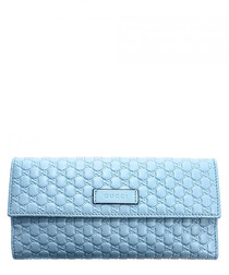 Guccissima pale blue leather fold purse