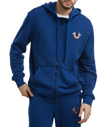 blue pure cotton hoodie