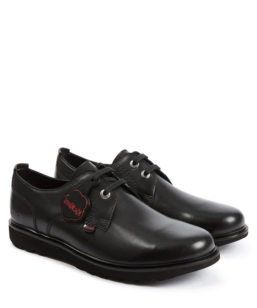 Kick Lite black leather Derby shoes Sale - kickers