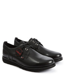 Kick Lite black leather Derby shoes