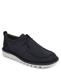 Kick Wall black leather shoes