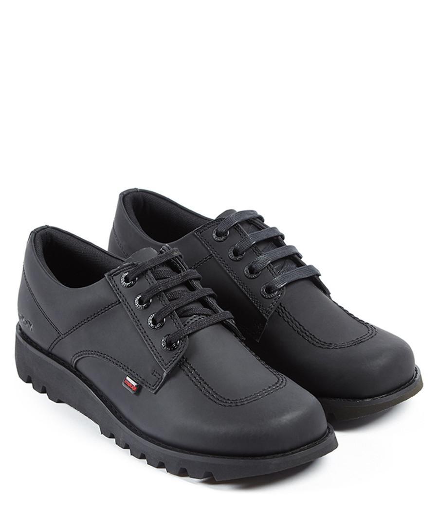 Kick Lo black leather shoes Sale - kickers