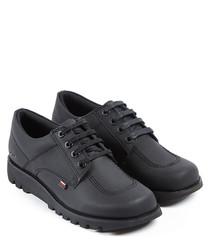 Kick Lo black leather shoes