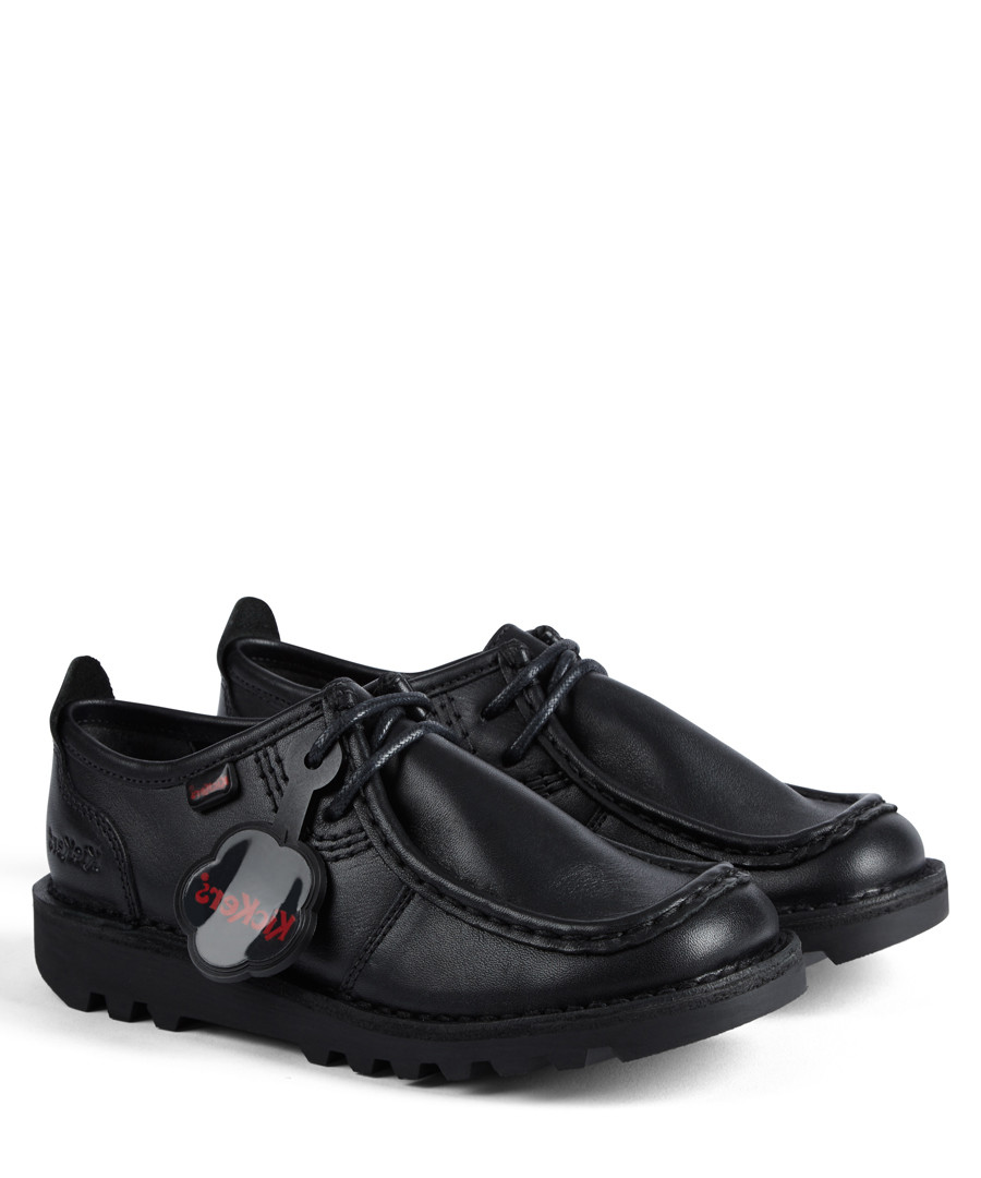 Kick Wallbi black leather shoes Sale - kickers