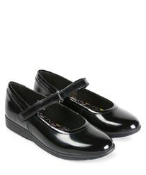 Perobelle black leather ballet flats