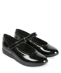 Perobelle black leather ballet flats