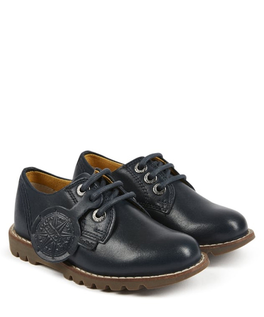 Kymbo navy leather tread shoes Sale - kickers