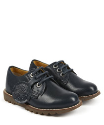 Kymbo navy leather tread shoes