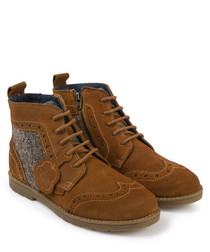 Orin tan suede brogue boots