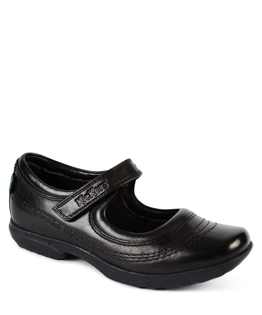 Keavy black leather strap shoes Sale - kickers