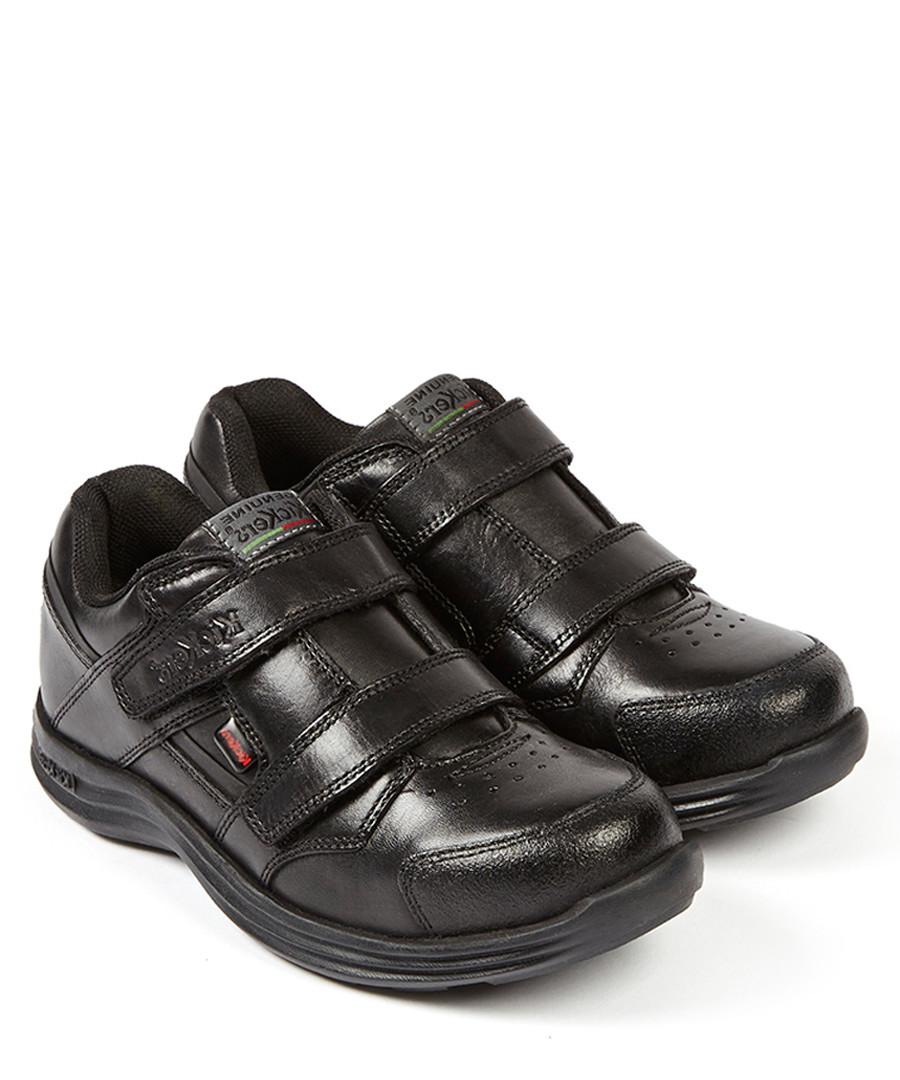 Seasan black leather two-strap shoes Sale - kickers