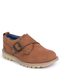 Kymbo tan leather monk shoes