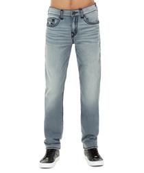 grey wash cotton straight jeans