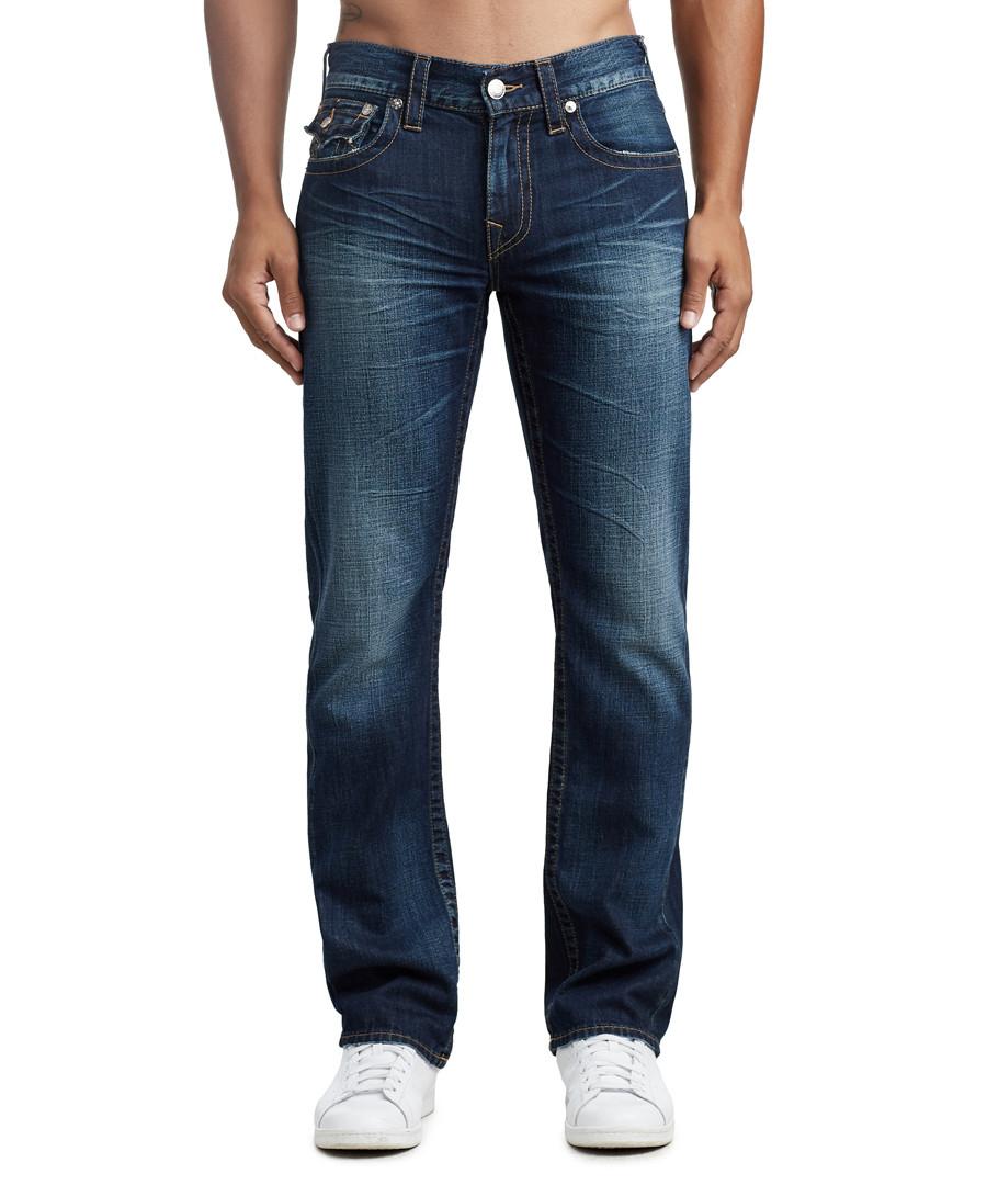 dark wash pure cotton straight jeans Sale - true religion