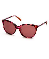 Fuchsia Havana rounded sunglasses