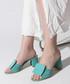 Mint suede square button sandals Sale - rovigo Sale