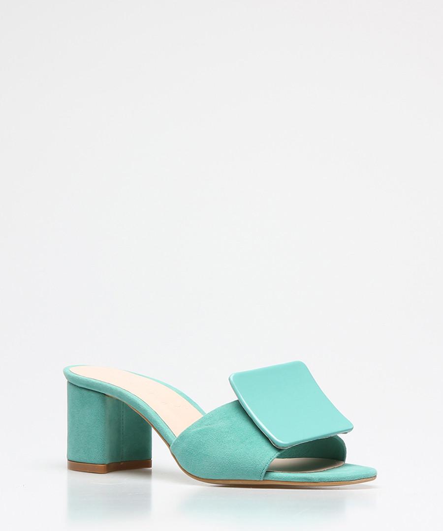 Mint suede square button sandals Sale - rovigo