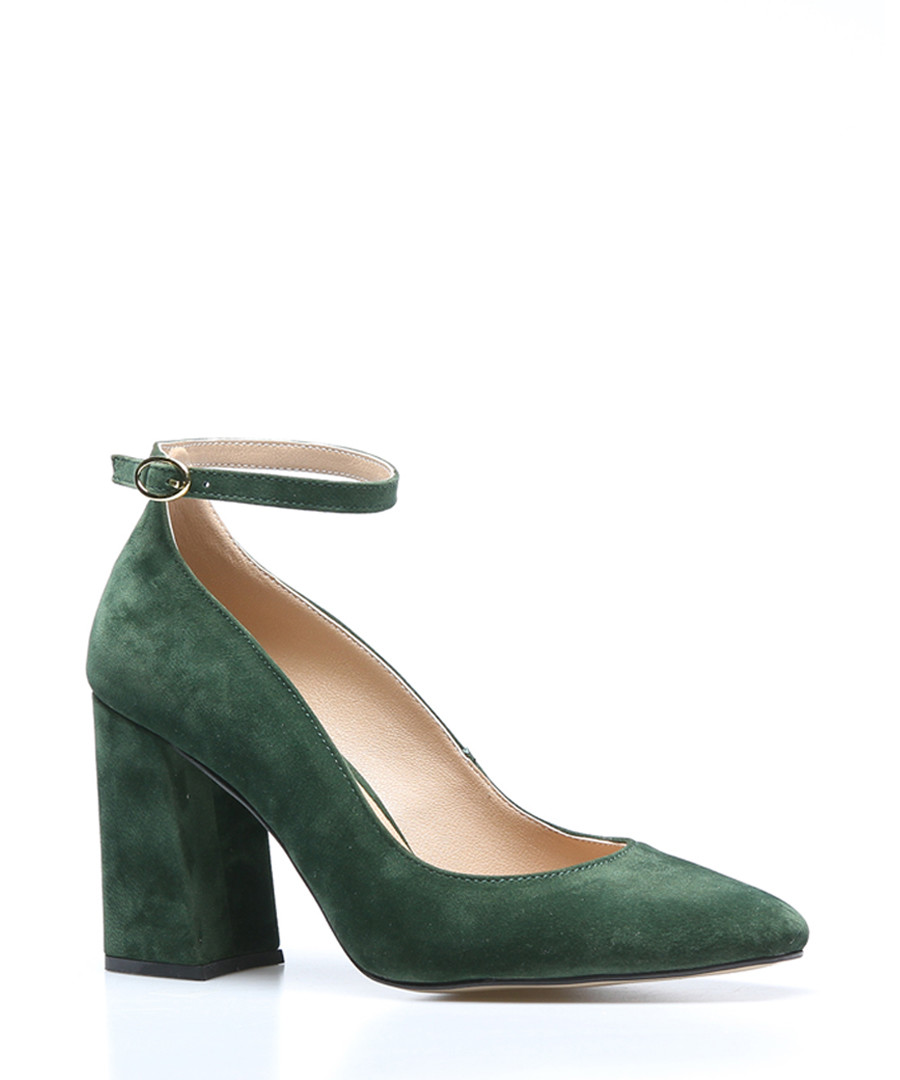 Olive suede heeled sandals Sale - rovigo