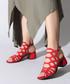 Red suede strappy heeled sandals Sale - rovigo Sale