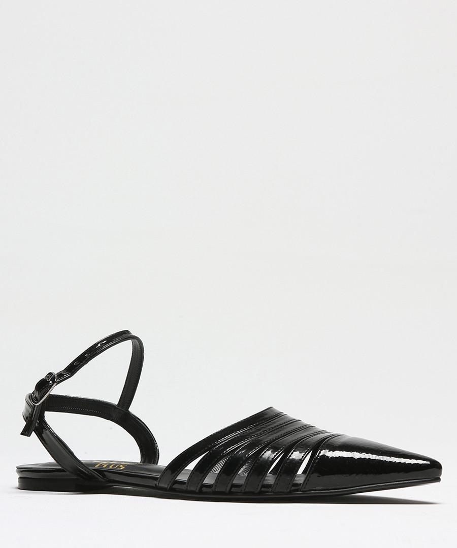 Black patent leather pointed sandals Sale - rovigo