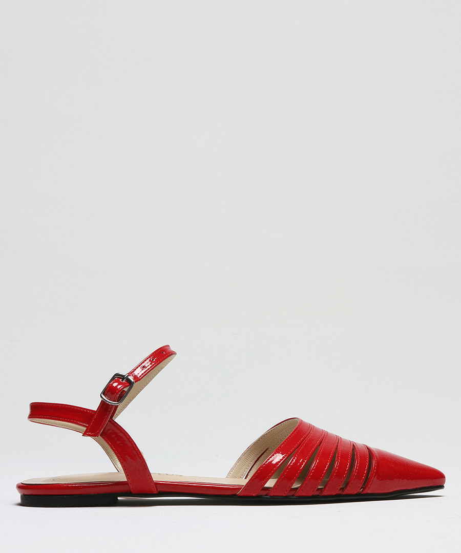 Red patent leather pointed sandals Sale - rovigo