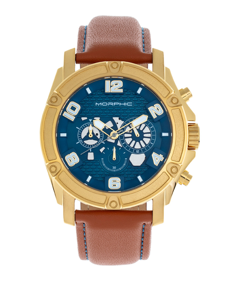 M73 Series camel leather watch Sale - morphic