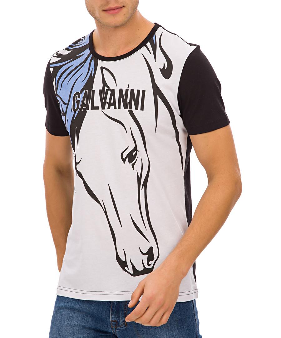 Black pure cotton horse T-shirt Sale - galvanni