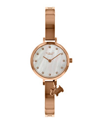Rose gold-tone charm watch